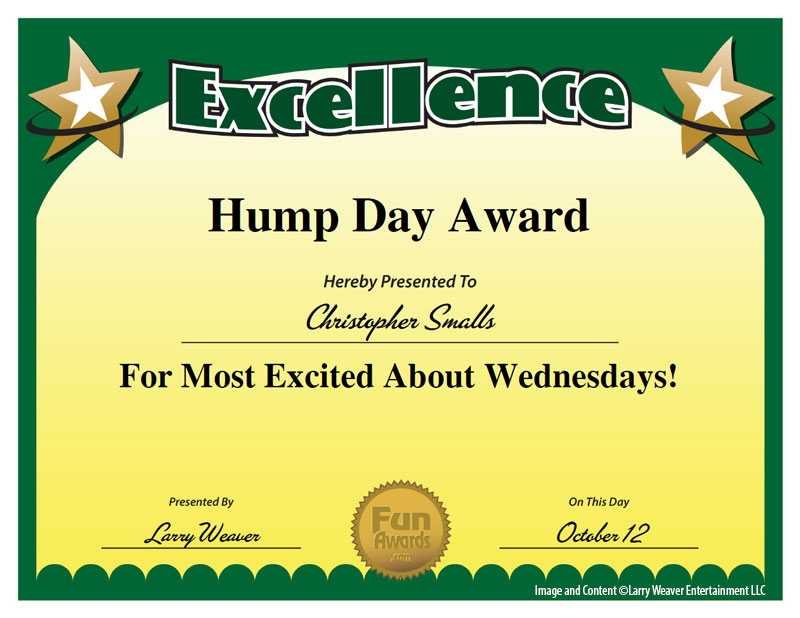 Hump Day Award